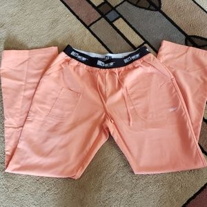 Orange Grey's anatomy scrub pants